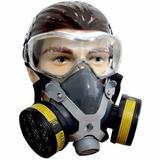 Mascara Respiratória Com 2 Filtros P/ Gases Ácidos + Óculos
