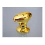 Kit 10 Puxador Oval Grande Dourada Parafuso P/guarda Roupa..
