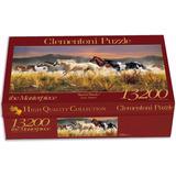 Quebra Cabeça Puzzle Gigante 13.200 Peças Cavalo Paisagem