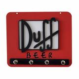 Porta Chave Chaveiro Pano De Prato Duff Beer Placa Mdf Retrô