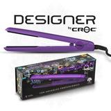 Plancha Para Cabello Croc Designer Para Rizos Color Púrpura
