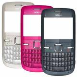 Carcasa Completa Nokia C3 Fucsia Blanca Nuevas!