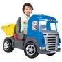 Mini Veiculo Caminhao Truck Pedal Azul Magic Toys