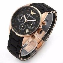 Relógio Emporio Armani Ar5905 Preto Rosé 100% Garantia