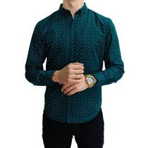 Camisa M/l Estampado Nave Pixel