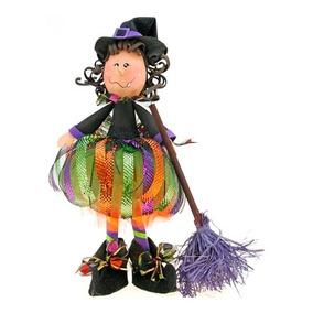 Centro De Mesa Fofucha Bruja Halloween Dia De Muertos
