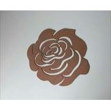 Flor Mdf Cru-aplique Parede-painel De Parede Flor 50cm