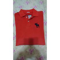 Camiseta Polo Abercrombie & Fitch Original Muscle Laranja