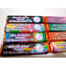 30 Bonitos Chocolates Invitacion Recuerdo 15 Años Xv Nikolo
