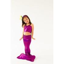 Disfraz Niña Brillante Cola De La Sirena Por Applejack Appa