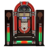 Jukebox Classic Usb / Sd Card / Am/fm / Cd Mp3 / Dock Retrô