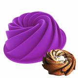 Forma Silicone Bolo Torta Pudim Cozinha Doces Espiral