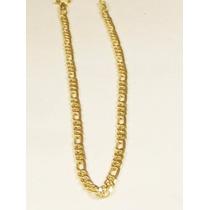 Pulseira Masculina Grumet 3 X1 21cm Em Ouro Amarelo 18k-750