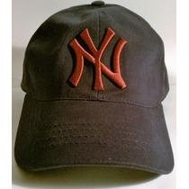 Gorra Visera Caps Ny Yankees Azul Oscuro