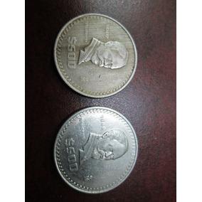 Monedas De 500 Pesos Nickel 1987 Y 1988