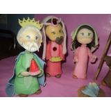 Pesebre Navideño 8 Piezas En Porcelana Fria