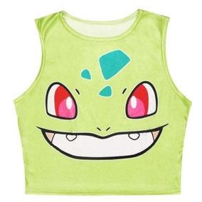Pokemon - Pikachu Squirtle Blusa Top Unitalla S/m