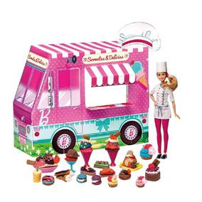 Barbie Massinhas - Food Truck - Sorvetes E Delícias Divertid