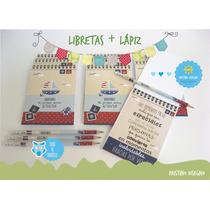 Libreta Anotador Souvenir + Lápiz Personalizado X 10 Uni