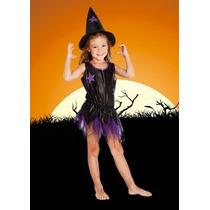 Disfraz Bruja Con Gorro Halloween Para Nena