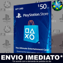 Psn Card Usa $50 Dólares Americano Código 12 Díditos Ps4 Ps3