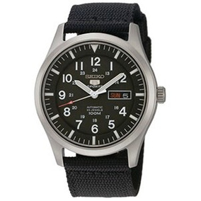 Relógio Seiko 5 Sports Militar Mostrador Preto Snzg15b1+fret