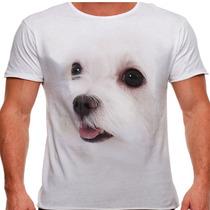 Camiseta Cachorro Maltês Masculina