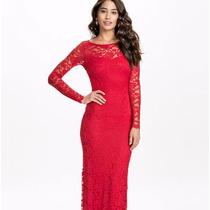 Vestido Largo Elegante Fiestaencaje Espalda Descubierta 2626