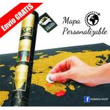 Promo Mapa De Rascar Deluxe Scratch Map Regalo Viajero