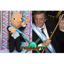 Muñecos Peponas Cristina Kirchner Nestor Kirchner Poupee