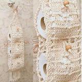 Kit 2 Porta Papel Higienico De Banheiro Em Crochê De Luxo