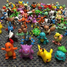Kit 50 Pokémons Bonecos Miniaturas 4-5cm Festa Aniversário