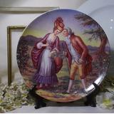 Hermoso Plato De Porcelana Escena Romantica Nº 6