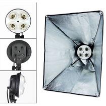 Softbox Socket E27 Quadruplo Iluminação Fotográfica Continua