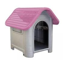 Casinha Plástico Cachorro Desmontável N.3 Médio Porte - Rosa