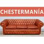 Sofa Chester Sillon Chesterfield De Cuero Vacuno Original
