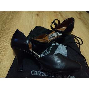 Zapatos De Salsa De Cuero Bottier , Poco Uso.