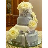 Torta Decorada De Casamiento Aniversario Compromiso - Kaupé