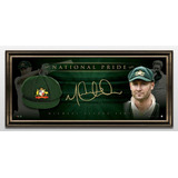 Gorra Autografiada Por Mvp Michael Clarke Deporte Cricket