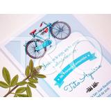 Estampita De Comunión Varón- Tarjeta Comunión Nene Bicicleta