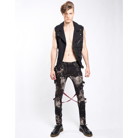 Pantalon Skinny Tripp Is7797m Bondage Punk Rocker Gothic