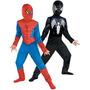 Disfraz Reversible Hombre Araña Roja Para Classic Negro