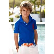 Kit 5 Camisas Gola Polo Infantil Piquet Camisetas Atacado