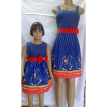 Vestido Galinha Pintadinha Mãe E Filha 100% Algodão