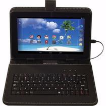 Tablet 7 Pulgadas Con Funda Y Teclado, 8gb Android4.4
