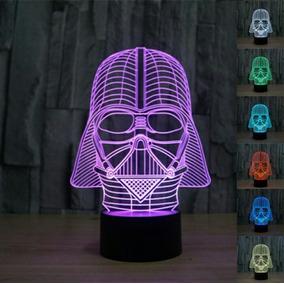 Luminária Darth Vader 3d Acrílico Muda 7 Cores Abajur