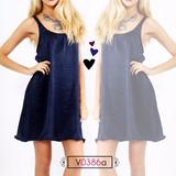 Vestido Moño Espalda Azul Marino, Talle Unico, Codigo V0386a