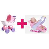 Carrinho De Boneca Ninos + Boneca Bebê Conforto Promoção