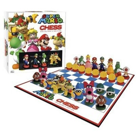 Jogo De Xadrez Nintendo Super Mario Chess Collectors Edition