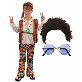 Disfraz Para Niño Niño Niña 60s 70s Hippy Vestido De Lujo D